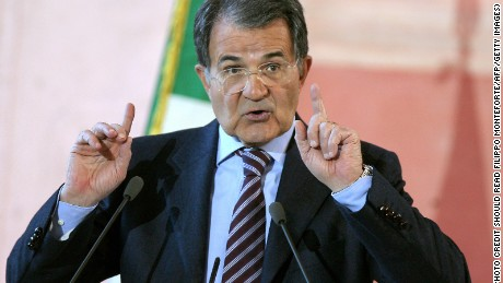 Italian Prime Minister Romano Prodi gestures during his year-end press conference in Rome's Villa Madama, 27 December 2007. Prodi said that the government will decide rapidly on the privatisation of Alitalia SpA. In his year-end press conference, Prodi said that the government has to choose between two potential partners for Alitalia and the best offer will be picked without taking into account vested interests. Air France-KLM is pitted against AP Holding, owner of the airline Air One, over buying a controlling stake in Alitalia from the government.