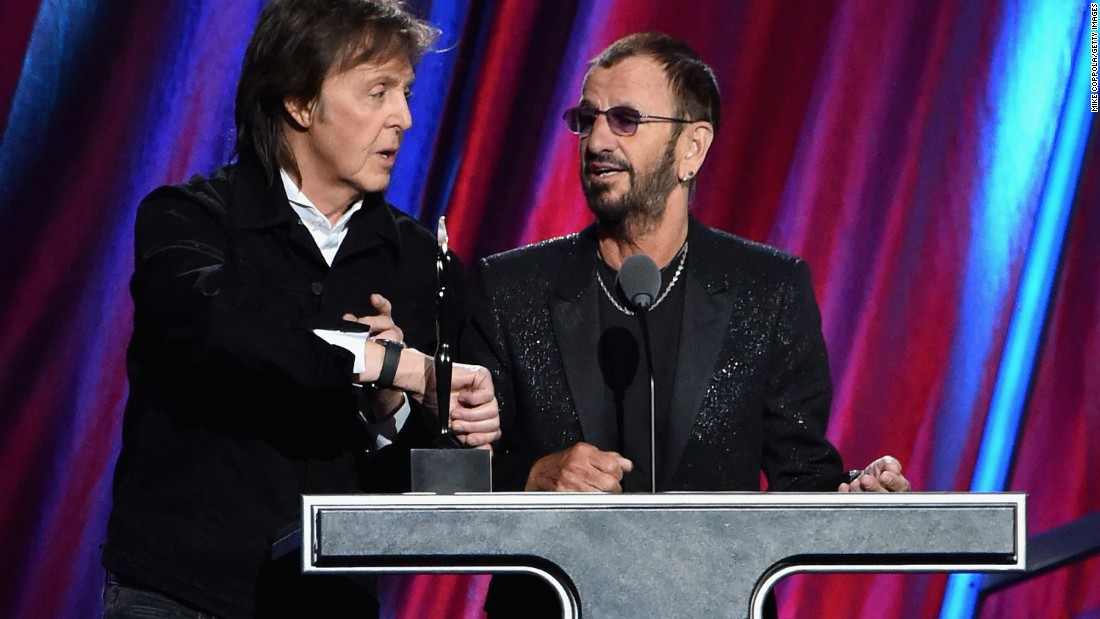 McCartney honored his former Beatle bandmate during the induction ceremony.