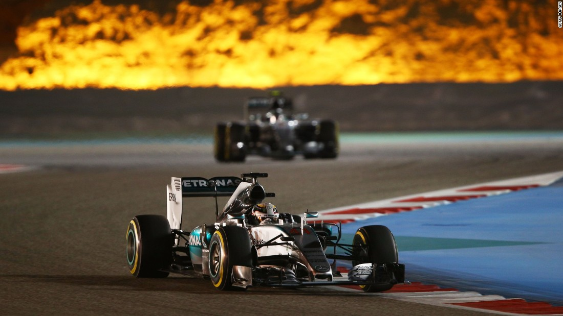 "Championship leader Hamilton cruised to victory in Bahrain on April 19, <a href=""/2015/04/19/motorsport/motorsport-hamilton-wins-bahrain-gp/index.html"" target=""_blank"">despite losing his brakes on the final lap.</a>"