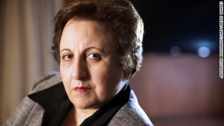 "Iranian lawyer, human rights activist and 2003 Nobel Peace Prize winner Shirin Ebadi, poses after a press conference at Blue Tree Millenium Porto Alegre Hotel in Porto Alegre, on June 13, 2011. Shirin is in Brazil to lecture in two conferences of ""Fronteiras do Pensamento"" (Borders of the Thought) in Porto Alegre and Sao Paulo. AFP PHOTO/Jefferson BERNARDES (Photo credit should read JEFFERSON BERNARDES/AFP/Getty Images)"