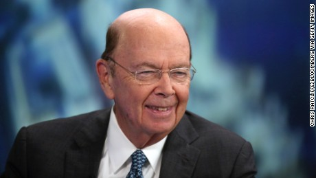 Wilbur Ross, U.S. billionaire, chairman and chief executive officer of WL Ross & Co. LLC, reacts during a Bloomberg Television interview in London on Tuesday, Nov. 18, 2014.  Photo credit: Chris Ratcliffe/Bloomberg via Getty Images