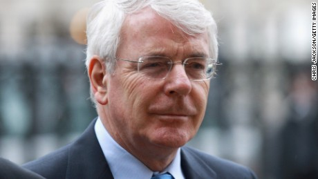 LONDON, ENGLAND - FEBRUARY 15:  Sir John Major arrives at a Service of Thanksgiving for Dame Joan Sutherland on February 15, 2011, in London, England.  (Photo by Chris Jackson/Getty Images)