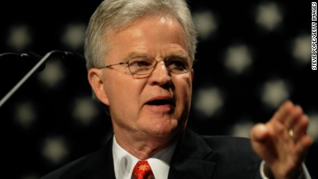 "Former Louisiana Gov. Charles Elson ""Buddy"" Roemer, III speaks at the Iowa Faith & Freedom Coalition Event, Monday March 7, 2011 in Waukee, Iowa. (Photo by Steve Pope/Getty Images)"
