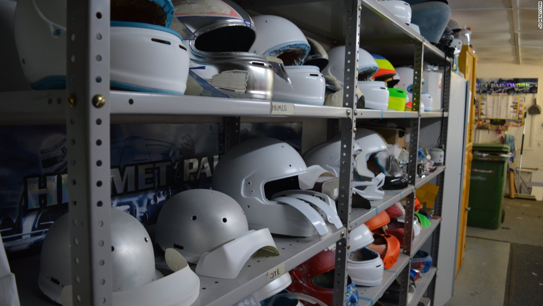 When it comes to custom painted helmets, the possibilities are endless. First they are stripped back to prepare for painting before being airbrushed and finished with a two-stage lacquer.