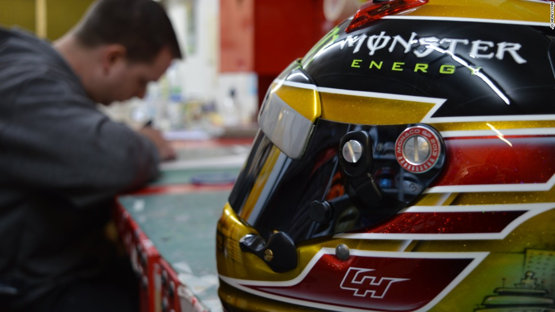 They may save lives but, to Jason Fowler, Formula One helmets serve as the canvasses for his eye-catching artwork. And for the last 16 years, he's been decorating the head wear of reigning F1 world champion Lewis Hamilton.