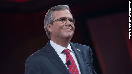 Jeb Bush speaks at the annual Conservative Political Action Conference in National Harbor, Maryland, on February 27, 2015.