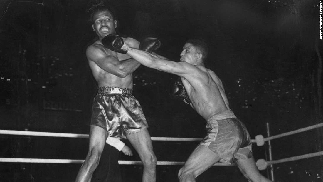 "Mayweather would contest the point, but for many ""Sugar"" Ray Robinson was the best boxer to ever set a foot into the ring. His glittering career was not without its hiccups, however.<br /><br />Journeying to London with a record of 128-1-2, few reckoned Randy Turpin stood a chance against the American. But blessed with confidence and indefatigable spirit the Brit let fly his jab and kept the dancing feet of Robinson in check, claiming the middleweight crown after 15 rounds."