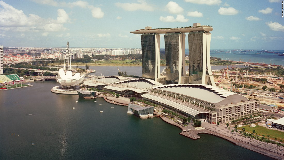 Rumors abound about what the unique shape of the Marina Bay Sands is meant to represent. But  Boston-based architect Safdie says the building represents whatever you want it to.