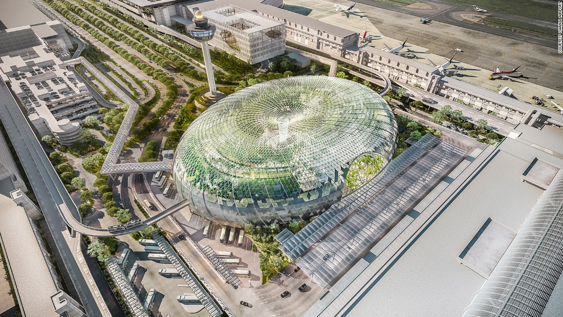 "Due to open in 2017, Safdie says his Jewel Airport development will ""re-define what airports are all about."""