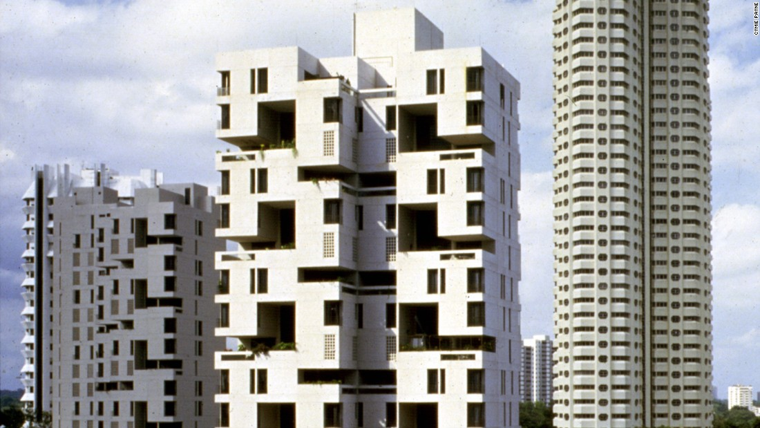Safdie's first project in Singapore was the 1985 Ardmore Habitat condominiums. The building has since demolished after a change in zoning restrictions allowed developers to double the height at which they're allowed to build.