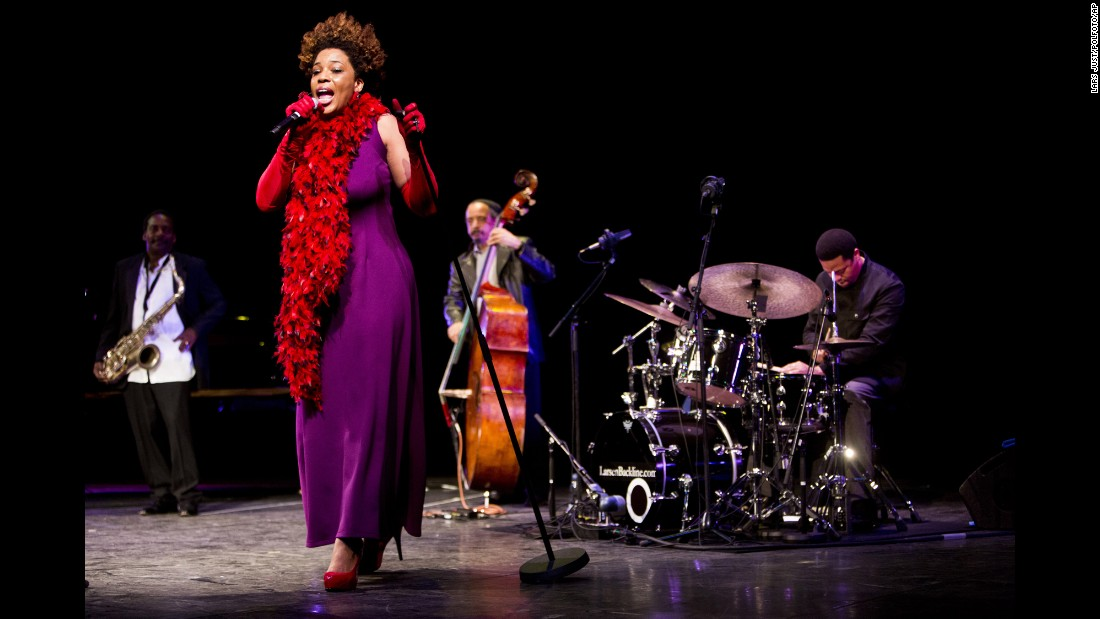 <strong>Denmark</strong>, the world's third-happiest country, has a great appreciation for music. Many musical acts, including Macy Gray, shown here, have appeared at the annual Copenhagen Jazz Festival. The party starts the first Friday in July and continues for 10 days.