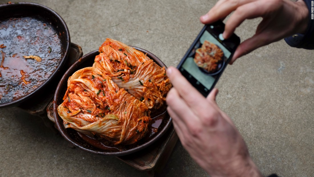"Numerous varieties of <a href=""http://www.cnn.com/2014/08/12/living/simply-seoul-kimchi-eatocracy/"">kimchi</a>, a dish of spicy fermented cabbage, are widely available in the street stalls and throughout Korea."
