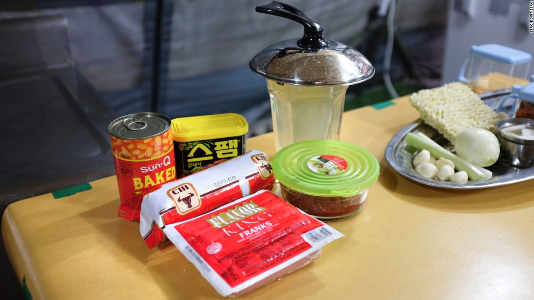 Mmm, canned meat: Korean cooks got inventive with the ingredients given to them by the American armed forces.