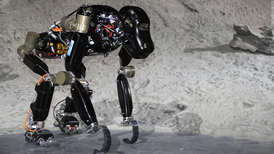 The robot capitalizes on the inherent stability of the ape's quadrupedal stance without losing the chimp's versatility in climbing, grasping and moving over all types of terrain.