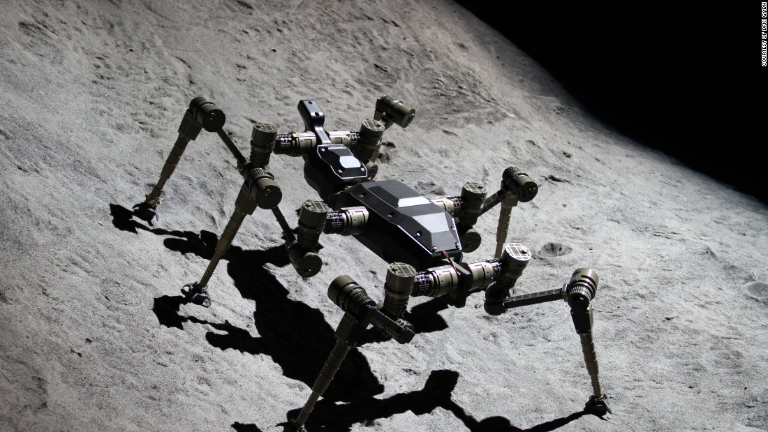 The research agency is also looking at other types of space rovers. The locomotion of the scorpion and the mantis is being studied to create robots that have the stability of four legs but with the ability to manipulate material with their forelegs.