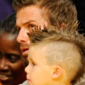 david beckham cruz mohawk 2009