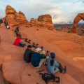 Utah photography- delicate arch people