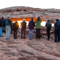 Utah photography- mesa arch people