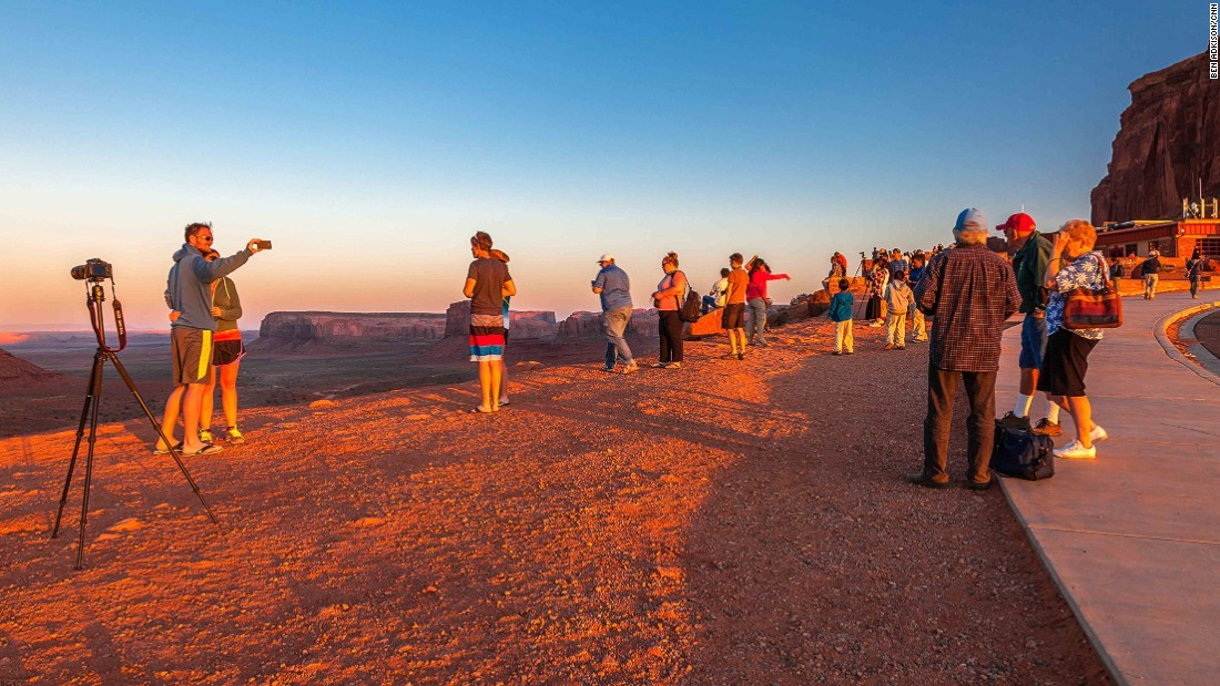 Most visitors don't venture beyond the viewpoint at the visitor center. At sunset (and even at sunrise) the viewpoint here is shoulder to shoulder with selfie sticks, iPad cameras and photographers with tripods, all intruding on the magnificent view.