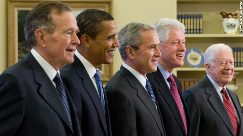 All five living former presidents launch joint Harvey relief effort