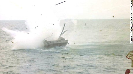 Ba Van Nguyen's helicopter smashes into the water after he risks all to save his wife and their three children.