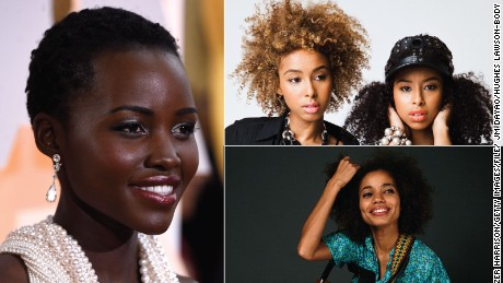 From top-right clockwise: Lupita Nyong'o, Faarrow's Iman and Siham Hashi and Nneka.