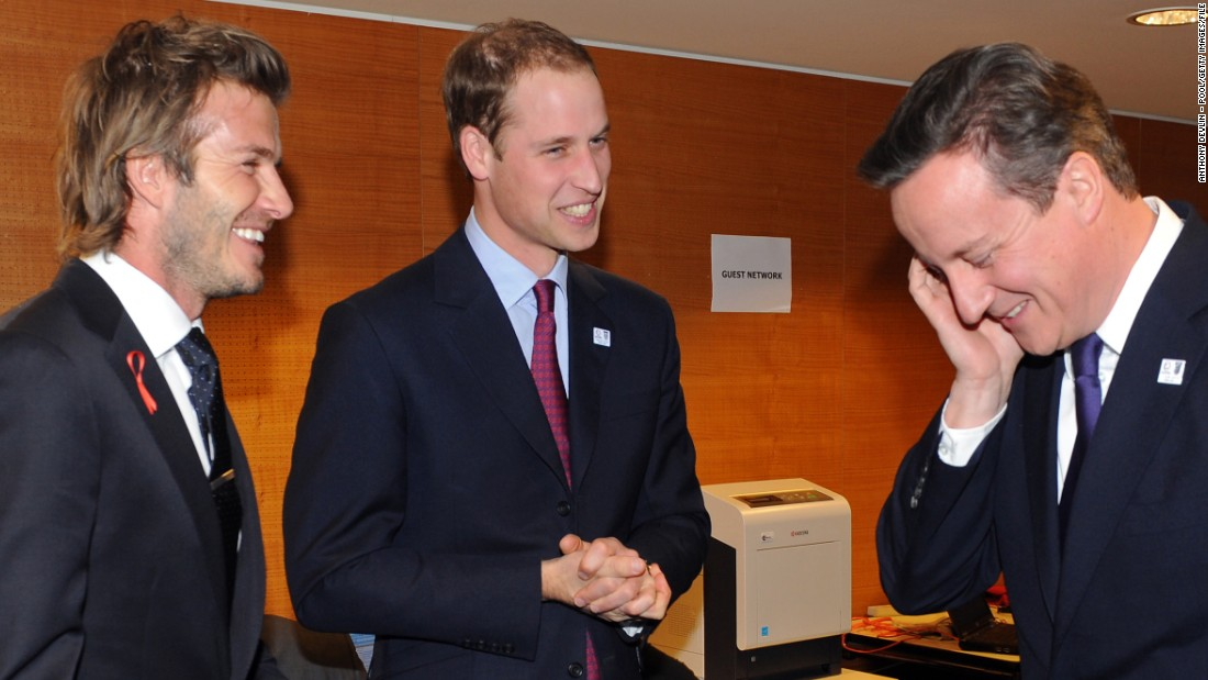 Beckham was less successful as a member of England's bid team for the 2018 World Cup. He is pictured here with fellow ambassadors Prince William and UK Prime Minister David Cameron in 2010 ahead of the controversial vote in which Russia won the right to stage soccer's showpiece event.