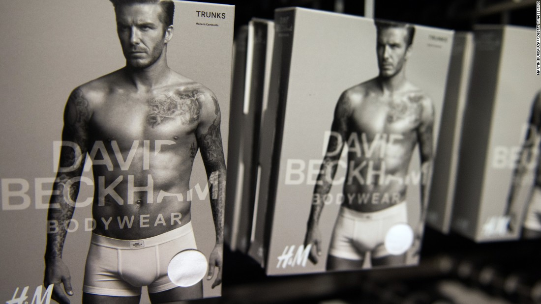 His many underwear adverts have earned him a following among men and women alike.