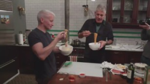 Korean cooking with Anderson Cooper and Anthony Bourdain