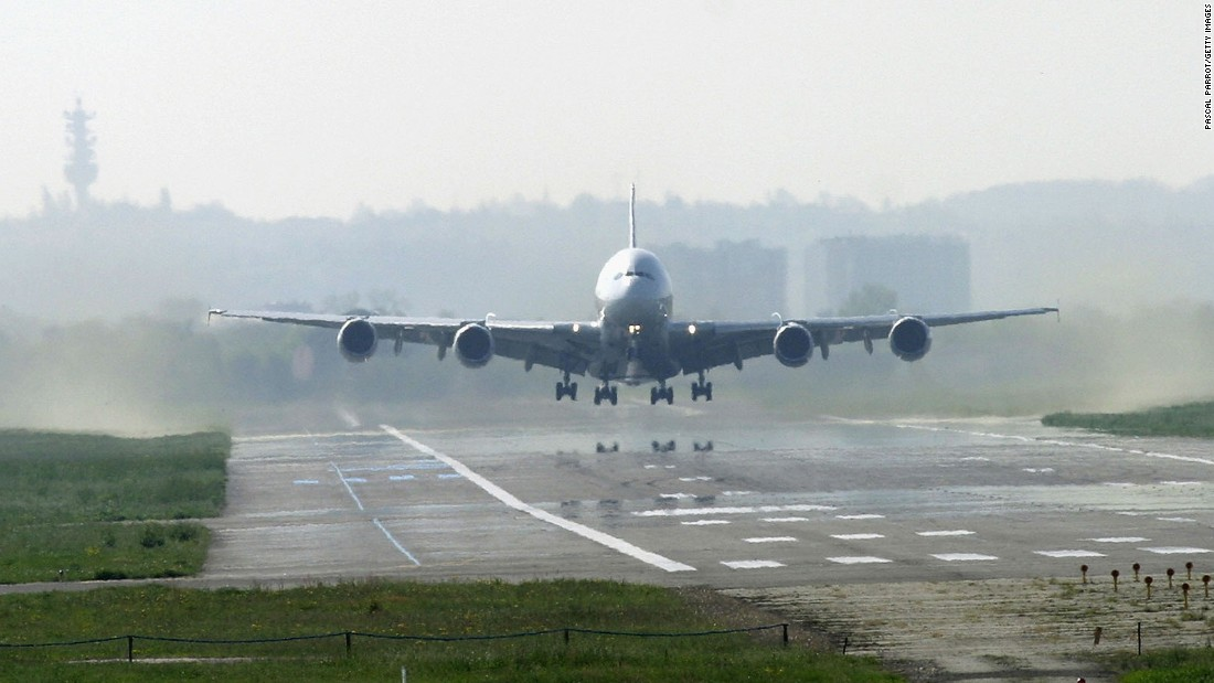 More than 50,000 people gathered to watch the A380's maiden flight at France's Toulouse-Blagnac Airport.
