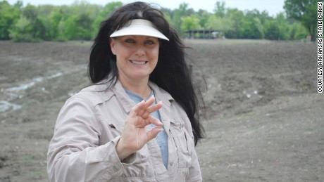 Susie Clark found a 3.69-carat white diamond at Arkansas's Crater of Diamonds State Park.