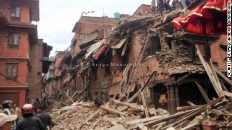Nepal earthquake images from Surya Chandra Manandhar