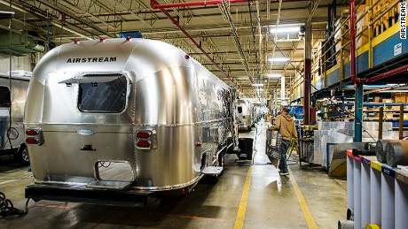Aspirational road travel starts on the Airstream factory floor.