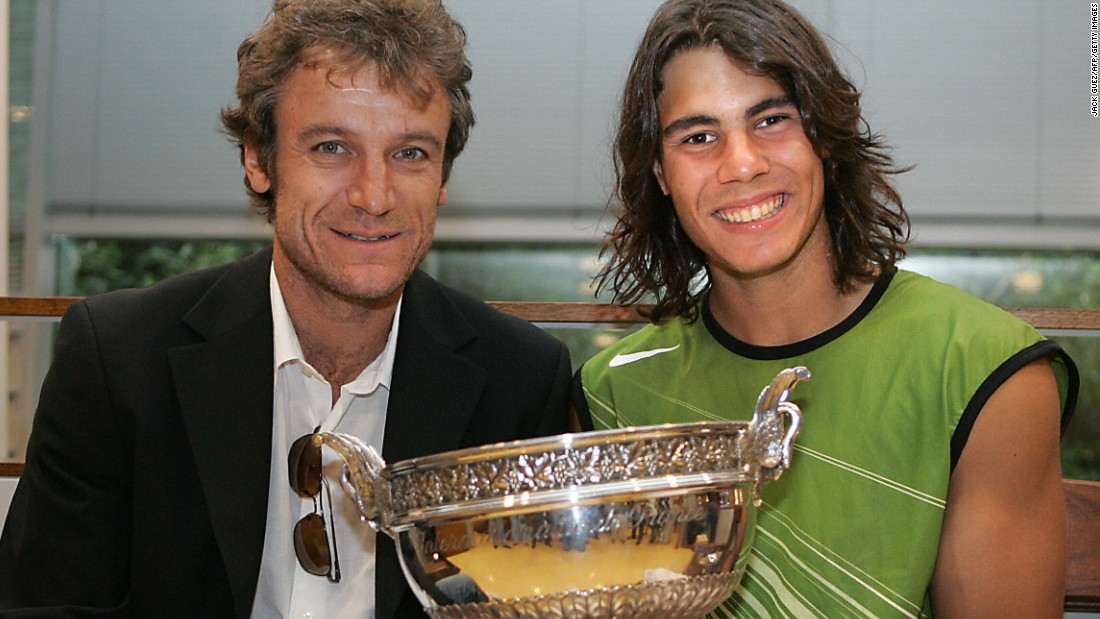 Teenage champions have become a rarity in recent years as players have become more focused on every aspect of the sport including food and conditioning. The last teenager to win a major was Rafael Nadal at the 2005 French Open when he was 19 years old. Here he is holding the winner's trophy that year alongside former Roland Garros champion Mats Wilander.