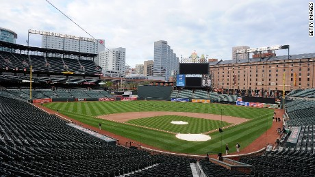 Baltimore Orioles game closed to fans Wednesday