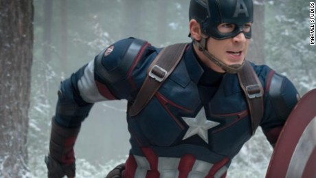 "Captain America from Marvel studios  ""Avengers: Age of Ultron"" 2015 movie"