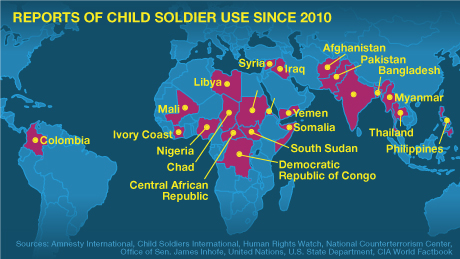 Images of child soldiers in africa map spacehero child soldier use around the world gumiabroncs Gallery