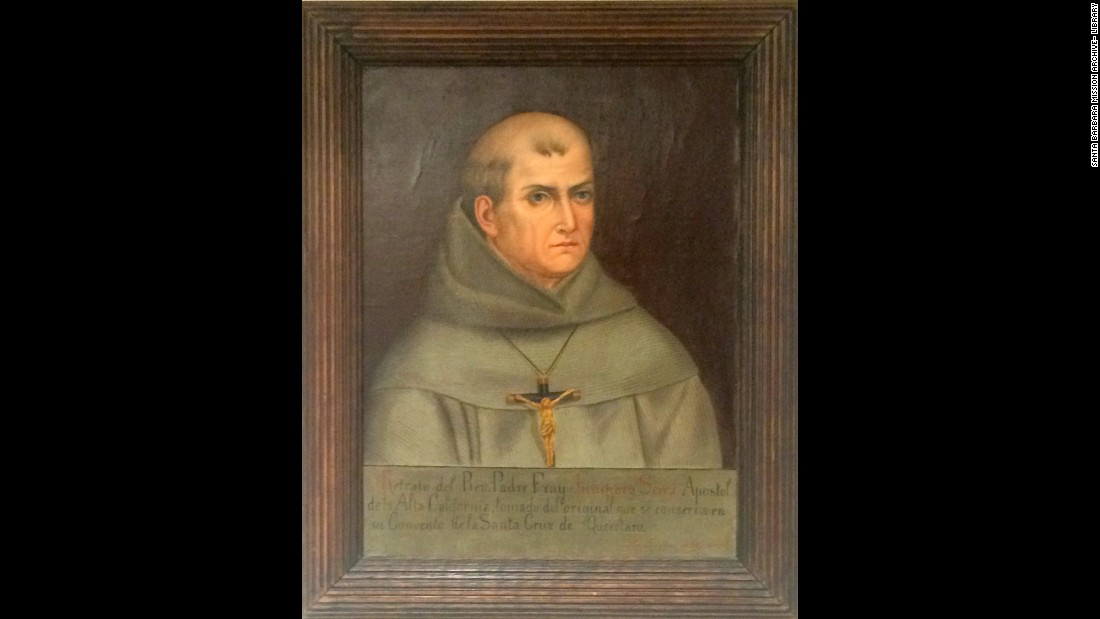 Few images exist of 18th-century Spanish missionary Junipero Serra, a founding figure of the American West. This portrait has become one of the standard representations of him and was done in the early 1900s by a Mexican priest, Father Jose Mosqueda, who said he copied it from a work that could have been an original portrait of Serra from the 1750s.