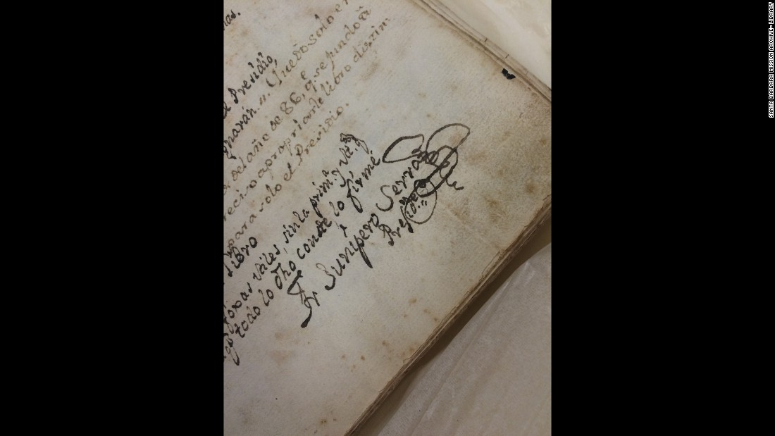 This is how Father Serra signed his name on a letter about the value of prayer to another Franciscan friar, Fermin Francisco de Lasuen.