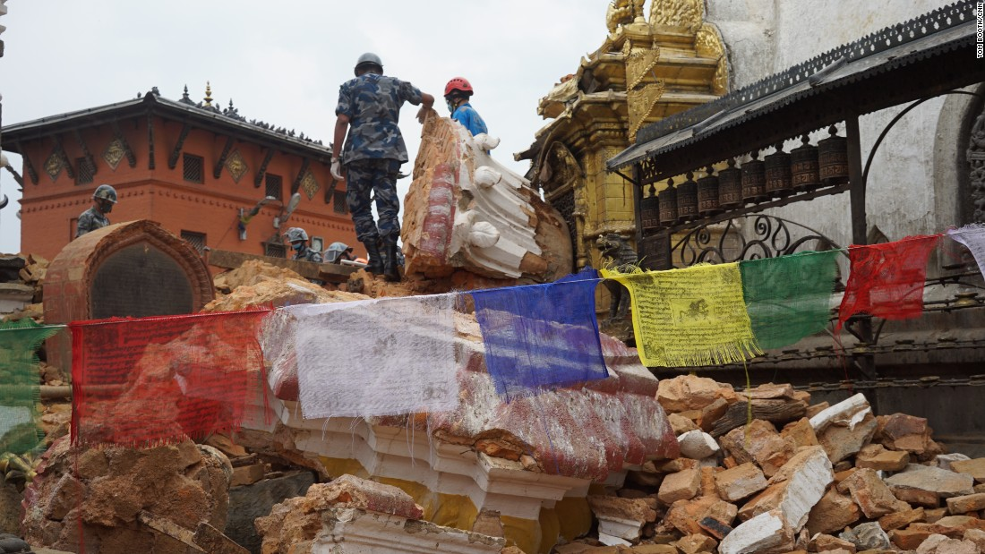 When the earthquake hit, many of Nepal's most renowned tourist sites were badly damaged.