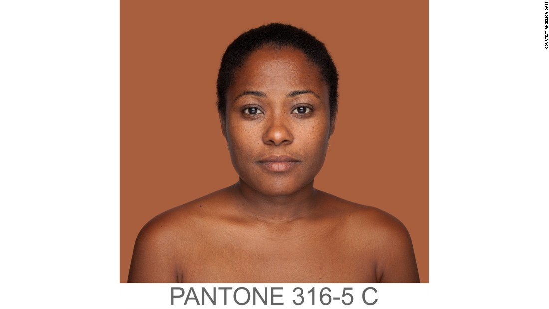 "Her project <a href=""http://humanae.tumblr.com/"" target=""_blank""><em>Humanæ<em></a></em> </em>is a ""chromatic inventory,"" explains Dass, based on ""a series of portraits whose background is dyed with the exact Pantone [printing color chart] tone extracted from a sample of 11x11 pixels of the portrayed's face."""