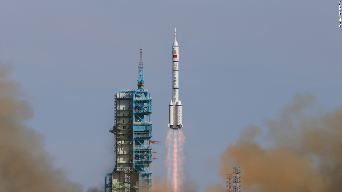 Shenzhou-10 was China's fifth manned space mission. The Shenzhou-10 spaceship, propelled by a Long March-2F rocket, blasted off from the Jiuquan Satellite Launch Center in the Gobi Desert on June 11, 2013.