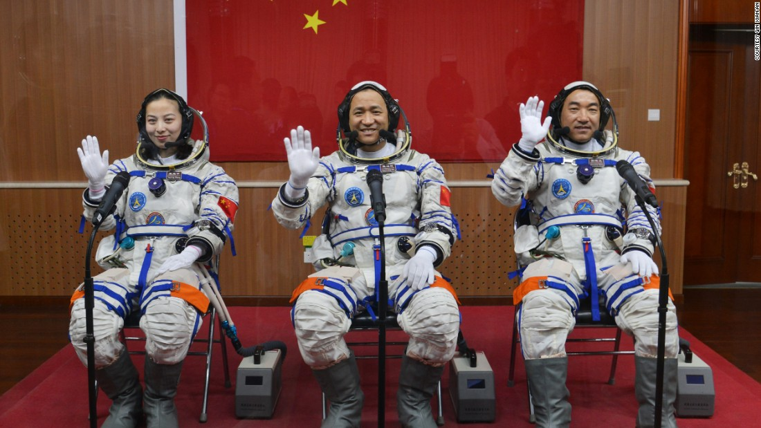The crew for this mission included a woman, Wang Yaping, and two male astronauts, Nie Haisheng and Zhang Xiaoguang.