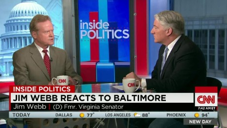 NewDay Inside Politics: Jim Webb reacts to Baltimore_00011203