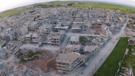 Kobani destruction ISIS aftermath drone orig_00000106