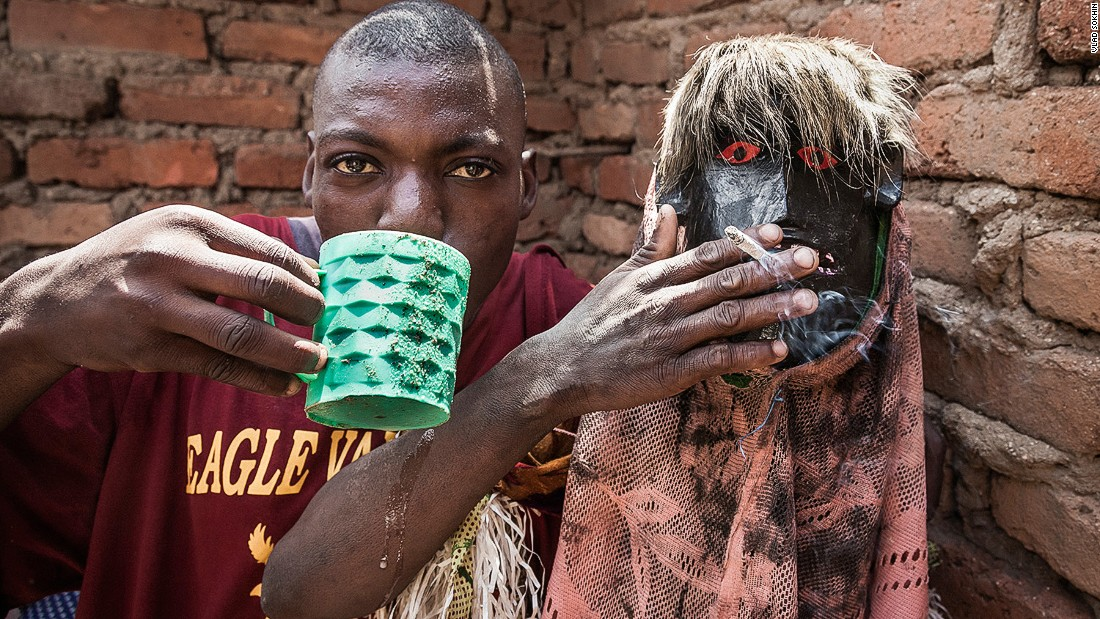 """After my first encounter with the Nyau, I spent a year in Mozambique looking for more dances, and trying to find members, so I could photograph them. This proved difficult, since everything about the Nyau is kept secret. If you're part of the Nyau cult, you're not supposed to tell anyone."""