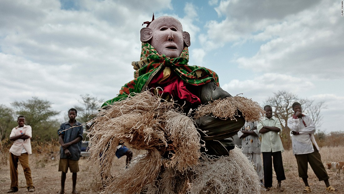 """The performance I witnessed was the Gule Wamkulu, a secret cult and ritual practiced by the Nyau brotherhood during the harvest, as well as important ceremonies, like weddings and funerals. Gule Wamkulu means 'The Great Dance' in the Chewa language. It is performed by the Nyau, who wear masks and costumes that represent the spirits of animals, called 'nyama,' and of their ancestors, called 'mizimu.' The ritual has had UNESCO protection since 2005, when it was included as one of 90 Masterpieces of the Oral and Intangible Heritage of Humanity."""