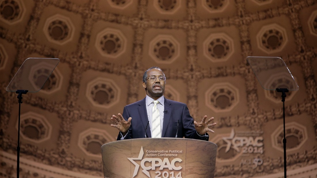 Carson speaks during the 41st annual Conservative Political Action Conference (CPAC) at the Gaylord International Hotel and Conference Center on March 8, 2014, in National Harbor, Maryland.