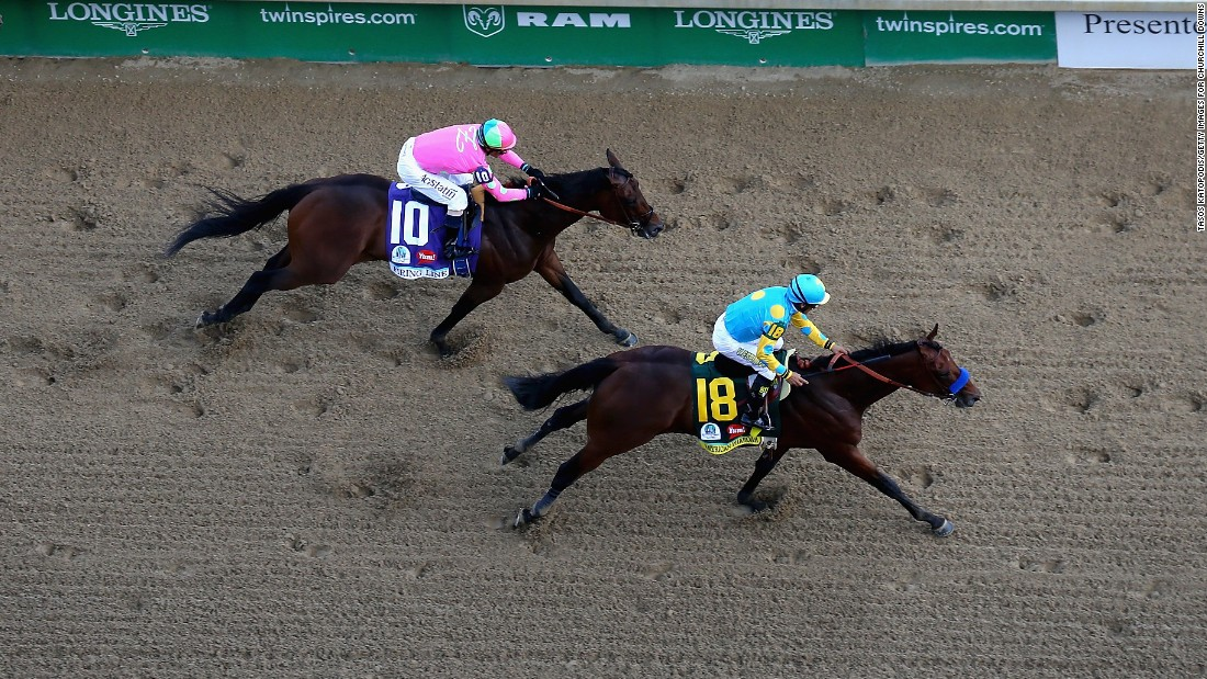 Espinoza gave trainer Bob Baffert his fourth victory in the opening leg of U.S. horse racing's Triple Crown, winning by a length from Firing Line as the 5-2 pre-race frontrunner.
