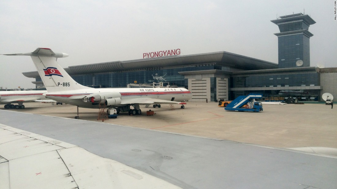 Pyongyang Airport is the first stop on tours of North Korea. Air Koryo is the national airline, which operates direct flights from Beijing and Shenyang in China, and Vladivostok in Russia.